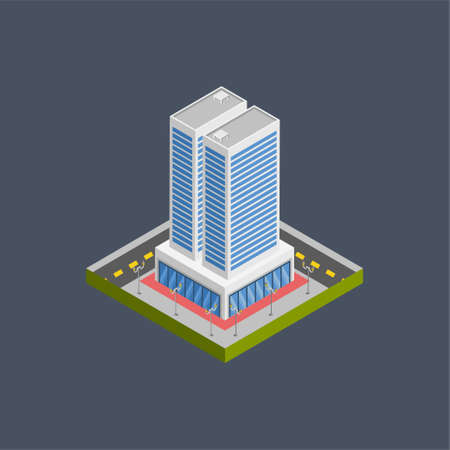Office building - 3d isometric.