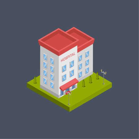 Hospital building - 3d isometric.