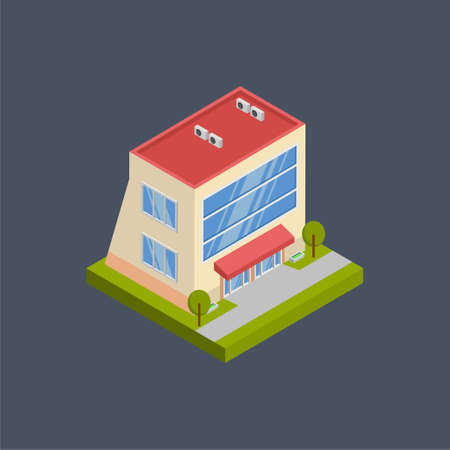 Residence building - 3d isometric.