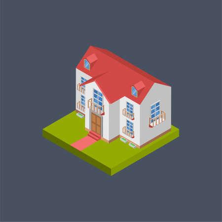 Home building - 3d isometric. Иллюстрация