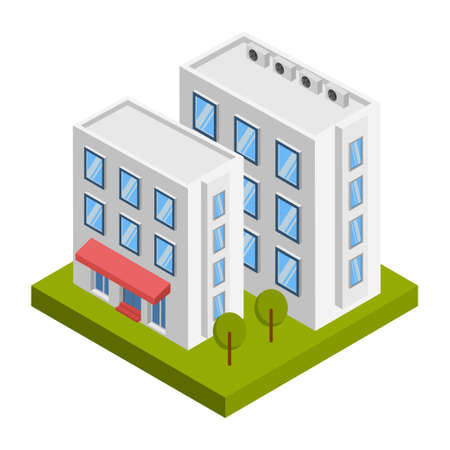Retail shop building - 3d isometric.