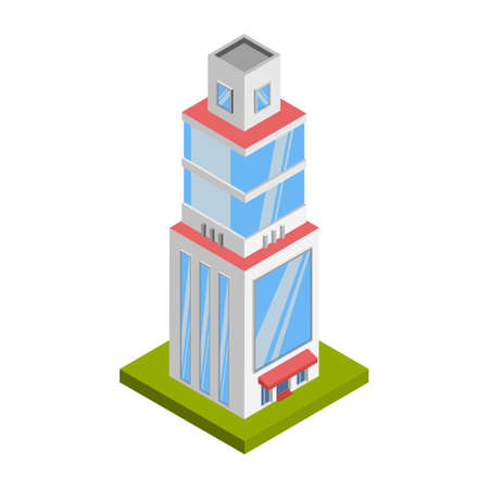 Tower building - 3d isometric.