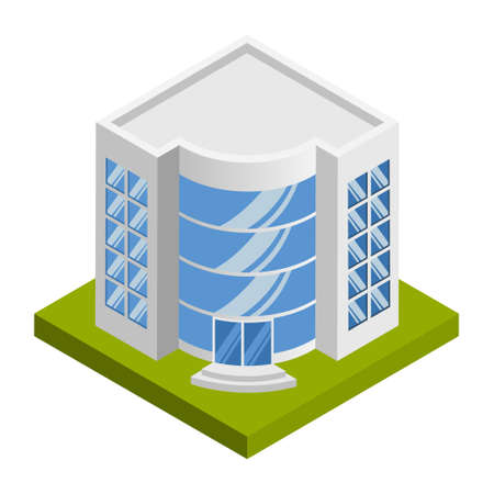 Company building - 3d isometric. Иллюстрация