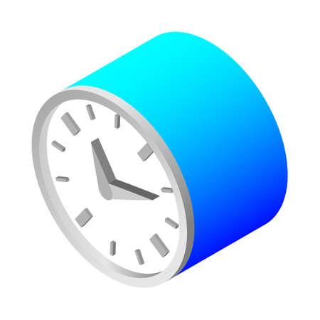 Clock time - Isometric 3d illustration. Иллюстрация