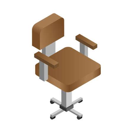 Chair - Isometric 3d illustration.