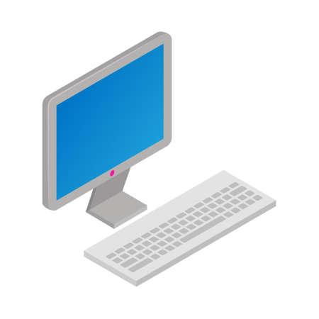 Computer - Isometric 3d illustration. Иллюстрация