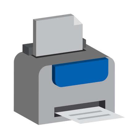 Printer - Isometric 3d illustration.