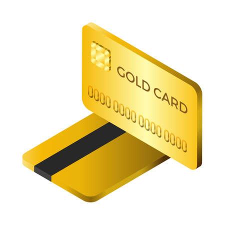 Credit card - Isometric 3d illustration. Иллюстрация