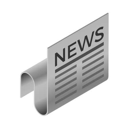 Newspaper - Isometric 3d illustration. Иллюстрация