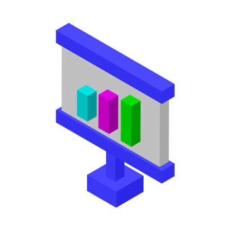 Graph presentation - Isometric 3d illustration.