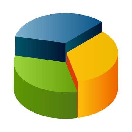 Pie chart - Isometric 3d illustration.
