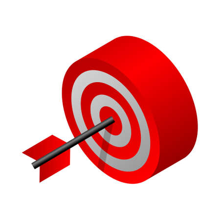 Target - Isometric 3d illustration.