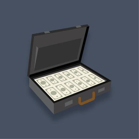 Money bag - Isometric 3d illustration. Иллюстрация