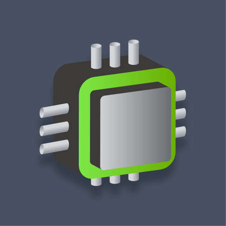 Processor - Isometric 3d illustration.