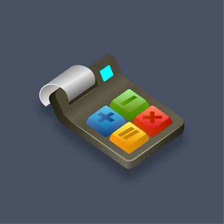 Calculator - Isometric 3d illustration.