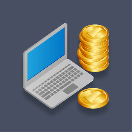 Income - Isometric 3d illustration. Иллюстрация