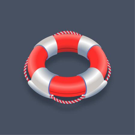 Lifebuoy - Isometric 3d illustration.