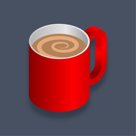Coffee - Isometric 3d illustration.