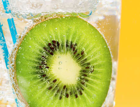 the carbonation: Kiwi drink