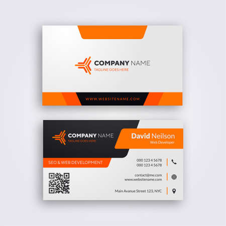 Professional Business Card Template - Vector
