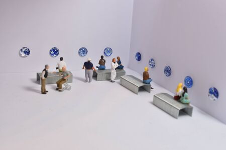 miniature people in a museum