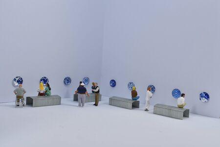 mini-people visit a museum
