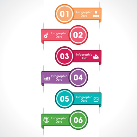creative arrow info-graphic stock vector