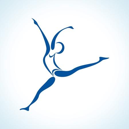 active life: illustration of stylized yoga pose