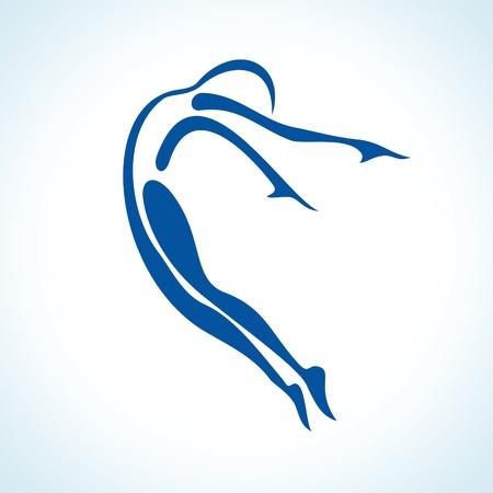 illustration of stylized yoga pose