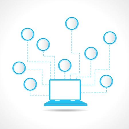 contemporaneous: computer portatile con il messaggio della bolla