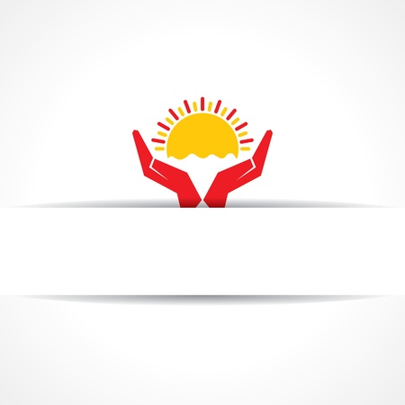 Hand protecting sun icon vintage vector Stock Vector - 20645154