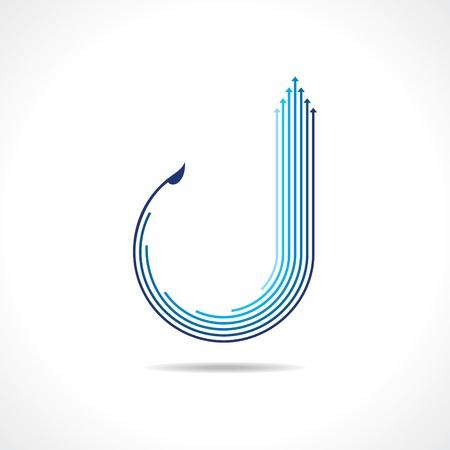 Flèche vecteur de logo bleu