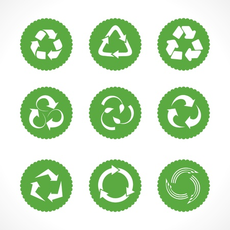 Set of recycle symbols and icons Stock Vector - 20746482