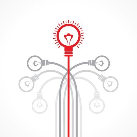 Idea concept with bulb stock vector Stock Vector - 20645119