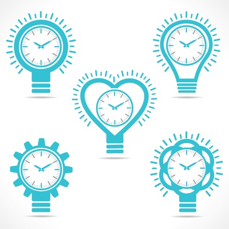 different shape clock Vector