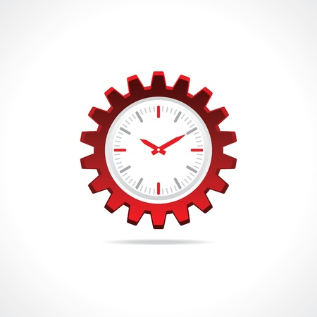 Gear clock icon Stock Vector - 20645121