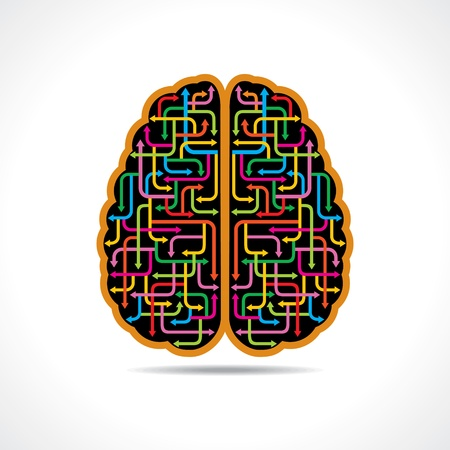unsolvable: Brain forming of colorful arrows Illustration