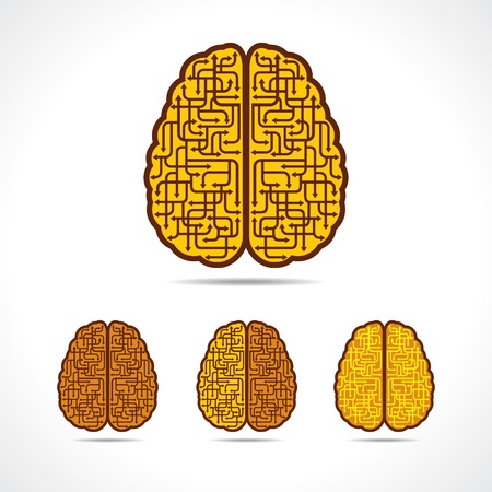 helplessness: Differnt illustration of Brain forming of  arrows