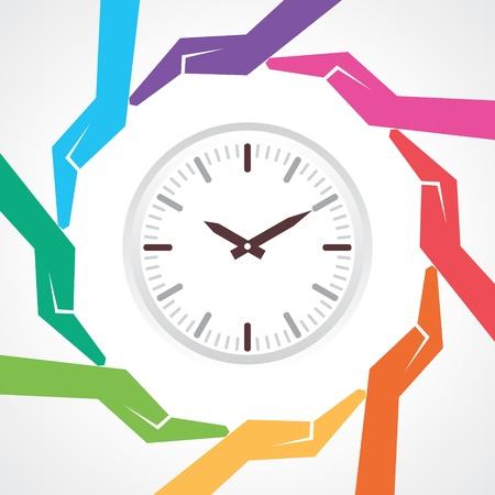 24x7: Save time concept-vector illustration  Illustration