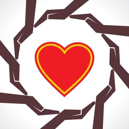 Protect human heart concept-vector illustration  Vector
