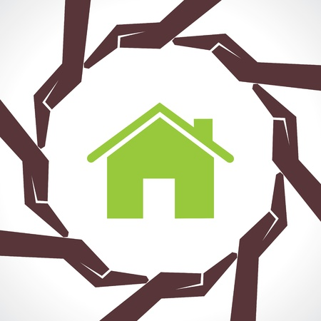 protect home: Protect home concept-vector illustration  Illustration