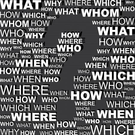 whose: Sfondo Domanda parola vuota punto interrogativo illustrazione vettoriale nello spazio
