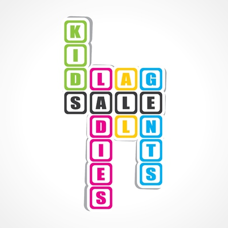 gents: Sale for ladies ,gents and kids sticker -vector illustration