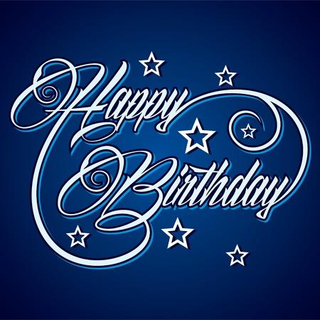 Creative Happy Birthday greeting stock vector