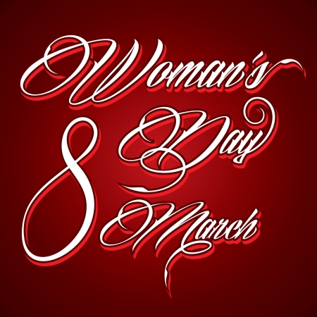 Creative typographic design for Happy Women s Day - vector illustration Vector