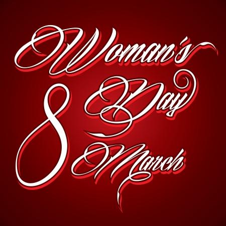 women s day: Creative typographic design for Happy Women s Day - vector illustration Illustration