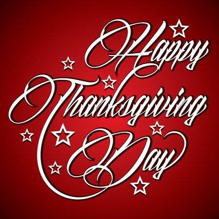 Creative typographic design for Happy Thanksgiving Day - vector illustration  Vector