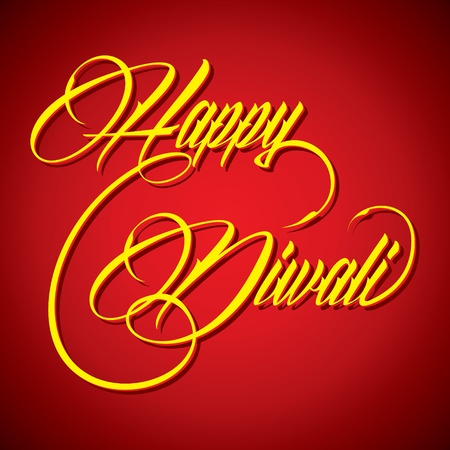 Creative calligraphy of text Happy Diwali- vector illustration Vector
