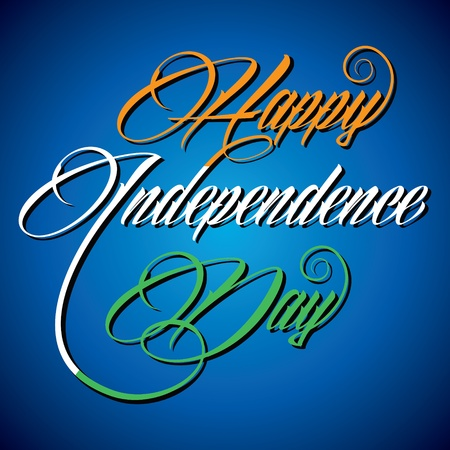 Creative calligraphy of text Happy Independence Day- vector illustration Vector
