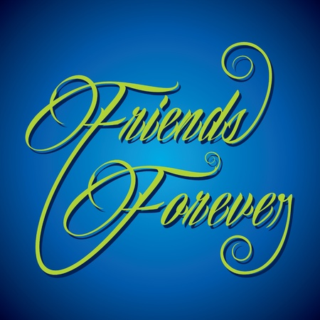 bff: Creative calligraphy of text Friends Forever- vector illustration